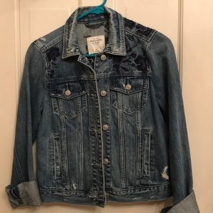 Abercrombie and Fitch embroidered denim jacket